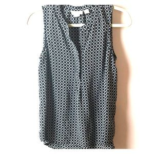 Cynthia Rowley 100% Silk sleeveless blouse
